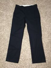Express Agent Pants Measure 33 x 31 Mens Navy Blue NWD tag says 31 X 32