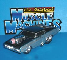 ORIGINAL MUSCLE MACHINES '66 Dodge Charger Black/Silver Real Riders 1966 Loose