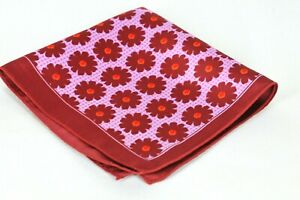Lord R Colton Masterworks Pocket Square - Red & Pink Silk - $75 Retail New