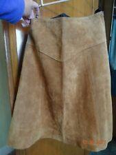 Vintage Genuine Leather Suede A line skirt 26 waist