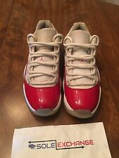 Nike Air Jordan Retro 11 Low White Varsity Red Cherry 528895-102 Sz 8.5