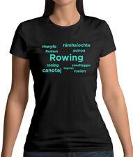 Rowing Languages - Womens T-Shirt - Rower - Row - Canoe - Kayak - Boat - Sport