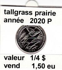 pièces de 1/4 $  tallgrass prairie 2020 P