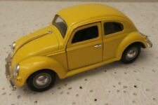 VW Volkswagen Metal Toy Vehicle - Yellow Car - Beetle/Bug #SS9407
