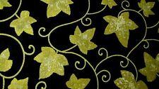 1 Yard Stonehenge Gold Leaf Metallic Brown Northcott Cotton Fabric 39122M-99