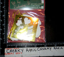 TO FROM TAG HEARTS STOCKING BRASS DRY EMBOSS STENCIL DARICE