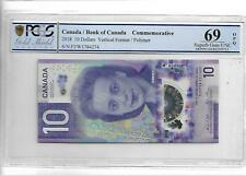 2018 Canada Bank of Canada Commemorative 10 Dollars PCGS 69 OPQ Superb Gem UNC