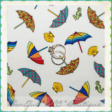 BonEful Fabric FQ Cotton Rainbow Lg Umbrella Sea Shell Horse Beach Martha Pullen