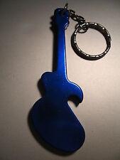 Guitar Metal Bottle Opener Keyring *Choose Metallic Colour* Key Ring/ Key Chain