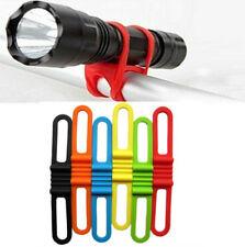 Bike Bicycle Cycling Silicone Elastic Strap Bandage Light Lamp Mount Holder