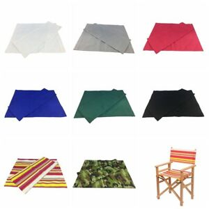 Canvas backrest and seat cloth for diagonally folding director's chair / stool
