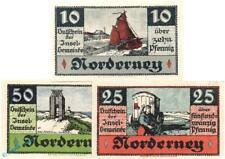 3x Notgeld Norderney , Set mit 3 Scheinen in kfr. Reihe 2 , Mehl Grabowski 984.1