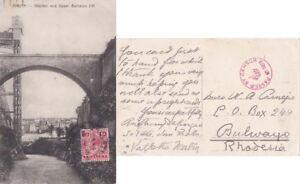 Malta 1915 ppc Barracjs Upper Barracca franked on front Censored to {Below}