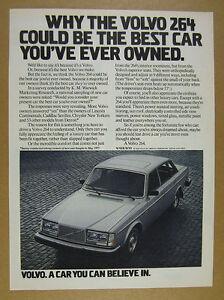 1978 Volvo 264 Sedan silver car photo vintage print Ad