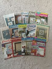 Lot of 14 Mixed Vintage Cross Stitch Magazines 1980-1990's