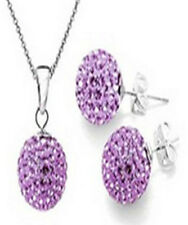 Jewelry Sets Shambhala Spherical Silver Stud Earrings and Pendant Necklace