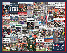 """New England Patriots 2017 Super Bowl  Newspaper Collage Poster- 16x20"""" Unframed"""