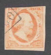 NETHERLANDS STAMP #3  — 15c KING WILLIAM III — 1852 -- USED