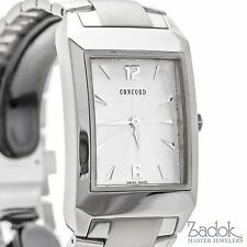 Concord Carlton Stainless Steel Men's Watch 27mm Quartz White Dial