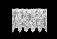 "Heritage Lace White DOGWOOD Window Tier 30""L"