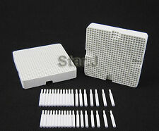 2pcs Dental Lab Honeycomb Square Firing Trays with 40 Zirconia Pins