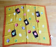 NWT/yellow/persimmon,Silk scarf,wrap,Furoshiki,Kyoto Japan Florals/Wrapper200cm