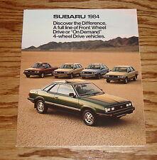 Original 1984 Subaru Full Line Foldout Sales Brochure 84 Sedan Hardtop Hatchback