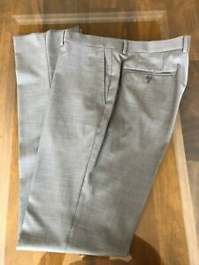 NWT ENZO TOVARE MEN'S DRESS PANT, SIZE: 40 - GREY (UNFINISHED) MADE IN ITALY