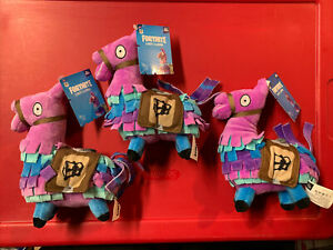 Fortnite Loot Lama Plush Toy Lot of 3 - 7.5 Inches Tall 2018 Brand New Jazwares