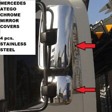 MERCEDES ATEGO CHROME MIRROR COVERS 4 pcs. STAINLESS STEEL