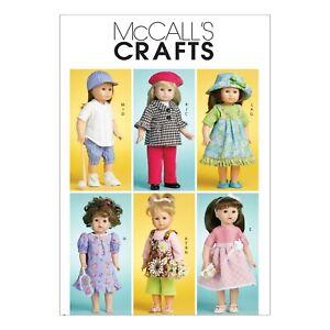 McCalls Schnittmuster M6137 - Puppenkleider für 45 cm Puppengröße