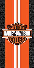 "Harley Davidson Towel Orange Racing Stripes Beach Pool FULLY LICENSED!!! 30""x60"""