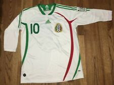 2007 Adidas Mexico National Team Long Sleeve Cuauhtemoc Blanco XL Jersey #10
