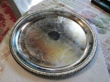 "1991 INTERNATIONAL SILVER CO [12.25""] ROUND SILVER PLATED SERVING TRAY !!"