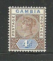Album Treasures Gambia Scott # 25  4p Victoria  Mint Hinged