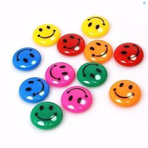 Smiley Face 3cm Fridge Magnets Memo Magnet Notice Board 1, 12, 24