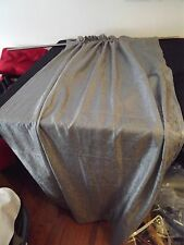 """steel gray Curtain Panel 50W X 63"""" Krinkled Look 2 Available"""