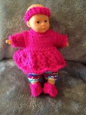 Baby Doll Outfit To Fit Appox 6 Inch Doll Reborn Oakley (no Doll) Rainbow Blue