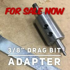 Diamond Drag Bit Adapter For 14 Inch Router To Use 38 Inch Drag Bit