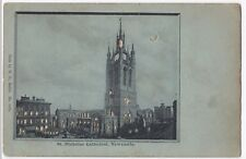 Newcastle, St Nicholas Cathedral Novelty Hold to Light PPC, By WH, Unposted