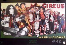 Army of Clowns | 2004 Orig. Signed Art Print Collage & Haiku by Wavy Gravy