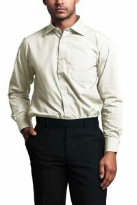 Men's Regular Fit Long Sleeve French Convertible Cuff Dress Shirt - RET- PART 2