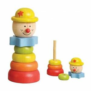 NEW Childrens Wooden Stacking Clown Educational Puzzle Toy
