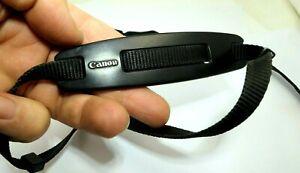 Canon Narrow Camera Neck Shoulder Strap BLACK 1cm wide w/ Rubber shoulder Pad