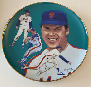 Tom Seaver Signed Gartlan Collector's Plate JSA