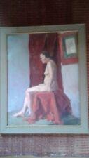 Bay area style studio nude . oil on board. NR!