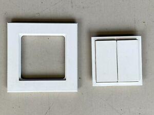 Homematic Funk-Wandtaster 2fach HM-PB-4-WM für Smart Home / Hausautomation