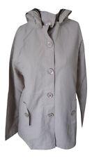 Tommy & Kate Ladies Hooded Summer Jacket Beige Womens Size 12  (JC152401)