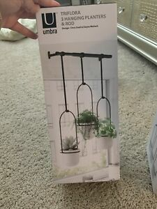 Umbra 1011748-660 Triflora Hanging Planter for Window, Indoor Herb Garden, Wh...