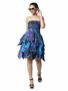 Dress Layered Multi Turquoise Tie Dye XXL